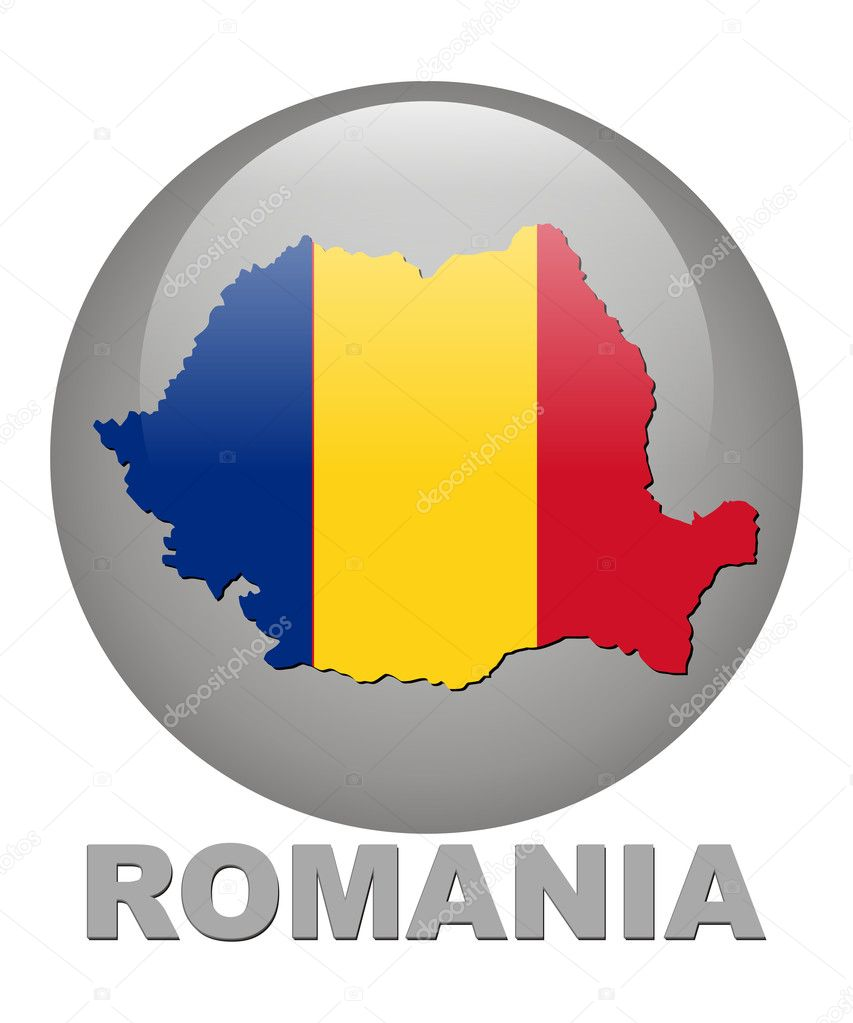 Country symbols of Romania- Territory, a card, the arms — Stock Photo #1318884