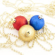 Set of Christmas-tree decorations — ストック写真