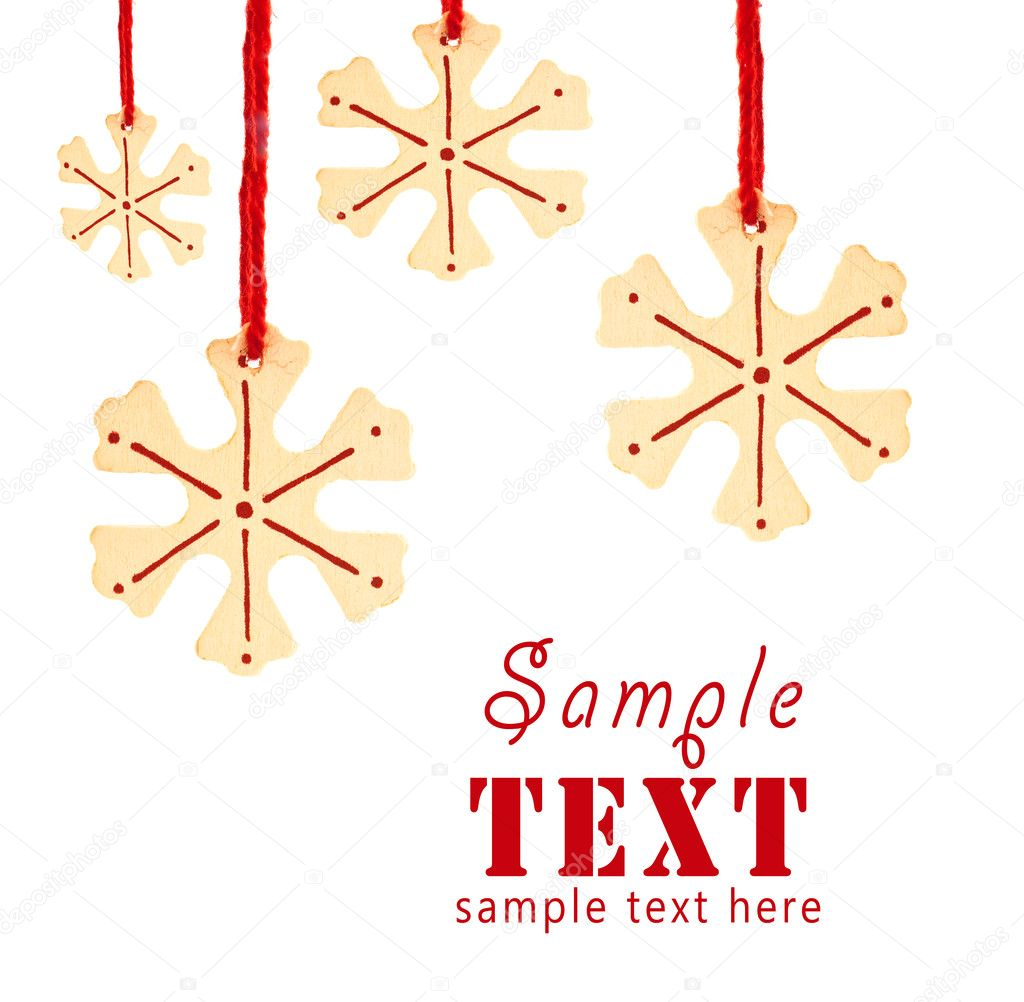 Christmas background with a pattern from snowflakes — Stock Photo #1343954