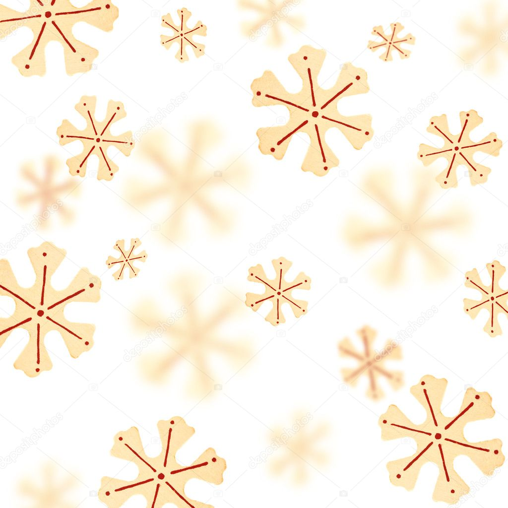 Christmas background with a pattern from snowflakes  Stock Photo #1343969