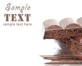 Porous black chocolate — Stock Photo
