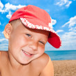 Stock Photo: Portrait of nice child on seacoast