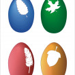 Four color easter egg — Stock Photo