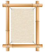 Rice paper in a framework from a bamboo — Stock Photo