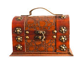 Old brown chest isolated — Stock Photo