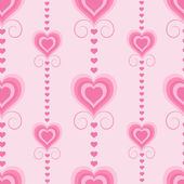 Seamless Valentine pattern with hearts — ストックベクタ