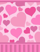 Seamless Valentine pattern with hearts — Vettoriale Stock