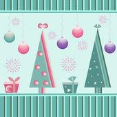 Herhaalde kerst patroon — Stockvector
