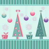 Repeated Christmas pattern — Stockvector