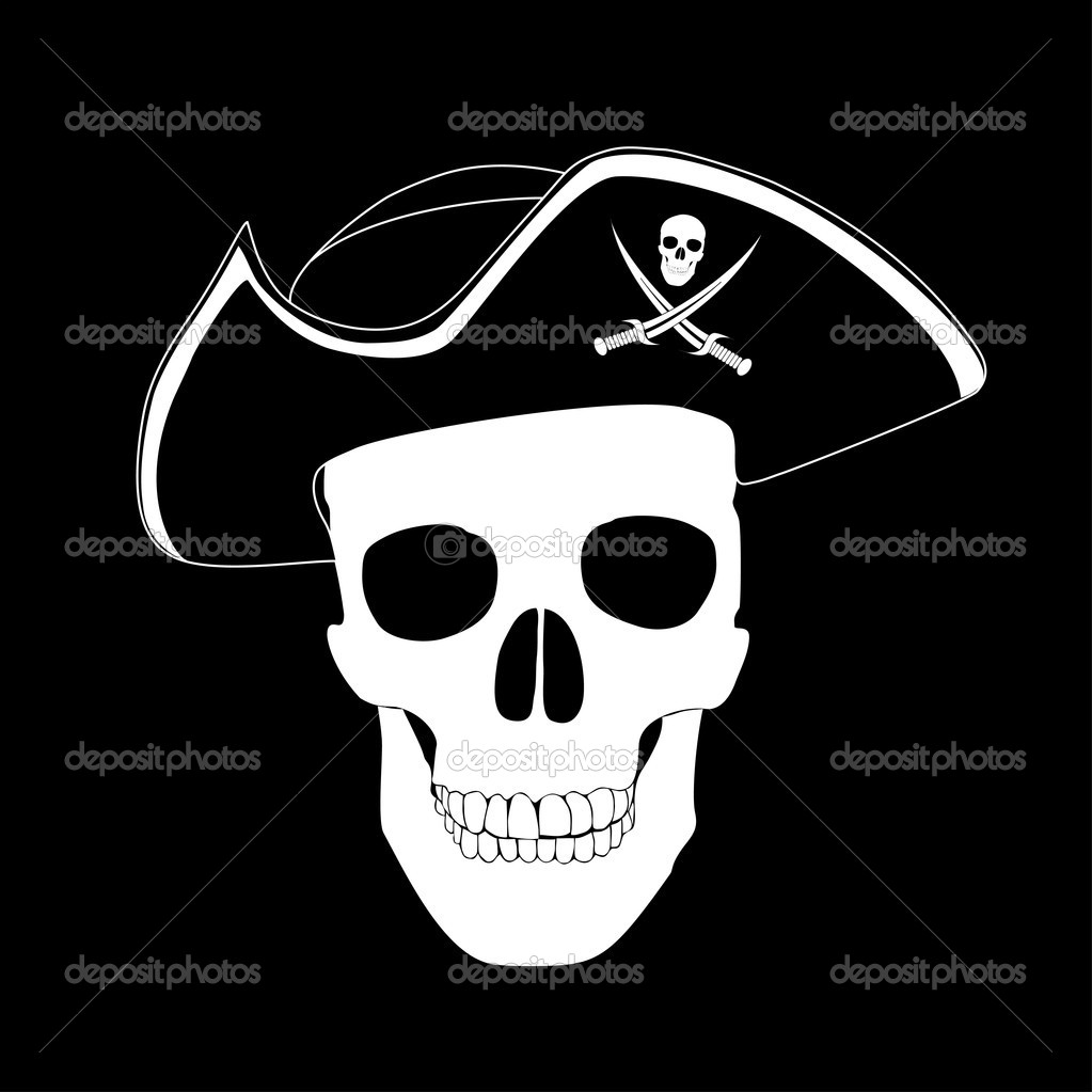 Pirate skull  Stock Vector #1303333