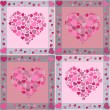 Seamless Valentine pattern with hearts - Vektorgrafik