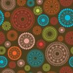 抽象的な花とのシームレスなパターン — ストックベクタ