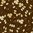 Abstract seamless pattern with flowers - ベクター素材ストック