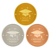 Set of academic awards — Stock Vector
