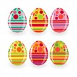 Set of Easter eggs — Stock Vector