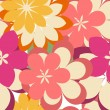 Abstract seamless pattern with flowers — Imagen vectorial