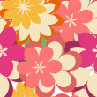 Stock vektor: Abstract seamless pattern with flowers