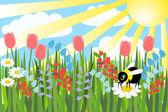 Frühlings — Stockvektor