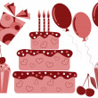 Set of sweets, cakes and gifts — Stock Vector #1967804