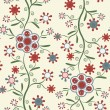 Elegant seamless pattern with flowers — Stock Vector