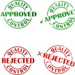 Set of approved and redjected ink stamps - Stock Vector