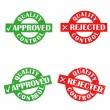 Stock Vector: Approved and rejected ink stamps