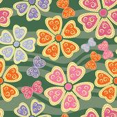 Nahtlose Muster mit Schmetterlingen und fl — Stockvektor