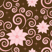 Seamless pattern with a pink flowers — Stock Vector