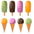 Royalty-Free Stock Vector Image: Set of colorful ice creams