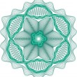 Guilloche rosette vector pattern - Stock Vector