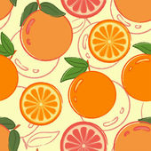 Seamless pattern with oranges — Stock Vector