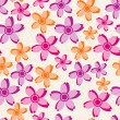 Seamless pattern with abstract flowers — Stock Vector