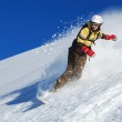 Young lady snowboarder — Stock Photo