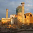 The ancient mausoleum in sunset — Stock Photo