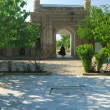 Stok fotoğraf: Gates of ancient mausoleum
