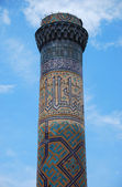 The top of ancient minaret — Stock Photo
