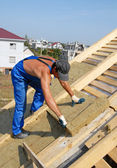 Construction of the house. — Stock Photo
