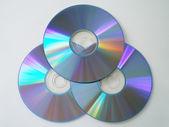 Three compact discs — Stock Photo