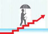 Businessman in the rain — Stock Photo