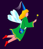 Fairy-tale fairy girl — Stock Photo