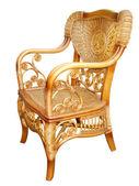 Beautiful wicker chair — Stock Photo