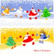 Stock Vector: Merry christmas greeting card