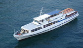 Excursion motor ship — Stock Photo