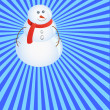 Stock Vector: Merry snow man