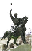 Statue of man on a horse — Stock Photo