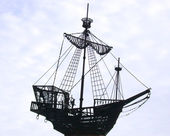 Monument to the old ship — Stock Photo
