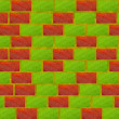 Stock Photo: Brick bio wall