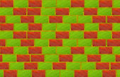 Brick bio wall — Stock Photo