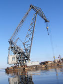 Crane barge — Stock Photo