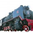 Stock Photo: Soviet steam locomotive